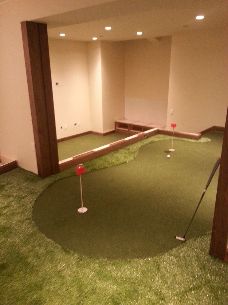 Madison Correctional Facility for a Modern Basement with a Personal Practice Facility and Madison, Wi by Executive Putting Greens
