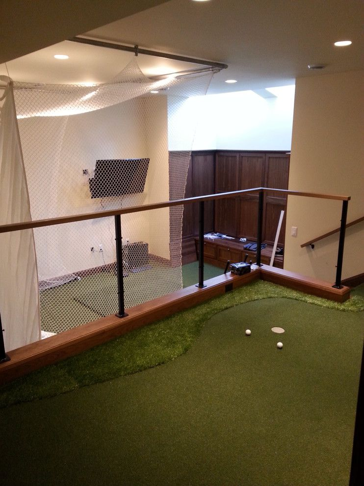 Madison Correctional Facility for a Modern Basement with a Putting Green and Madison, Wi by Executive Putting Greens