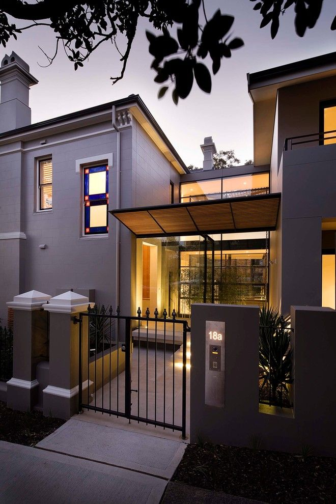 Mail Boxes Near Me for a Contemporary Entry with a Lighted House Number and Manly by Art of Kitchens Pty Ltd