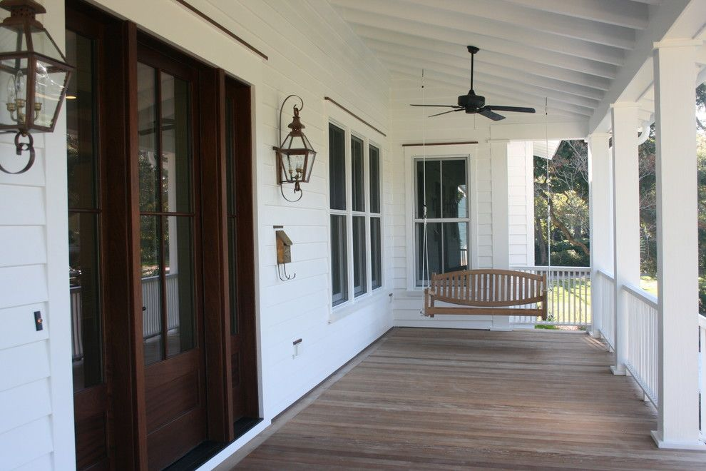 Mail Boxes Near Me for a Traditional Porch with a Porch Swing and Structures Building Company by Structures Building Company