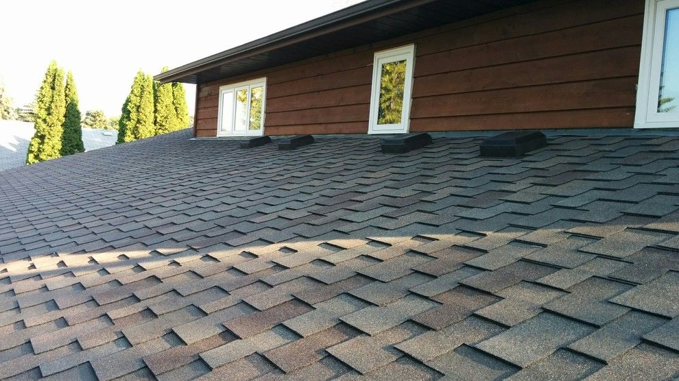 Malarkey Shingles for a Traditional Exterior with a Shingles and Misc Roofing by Piller & Putz Construction
