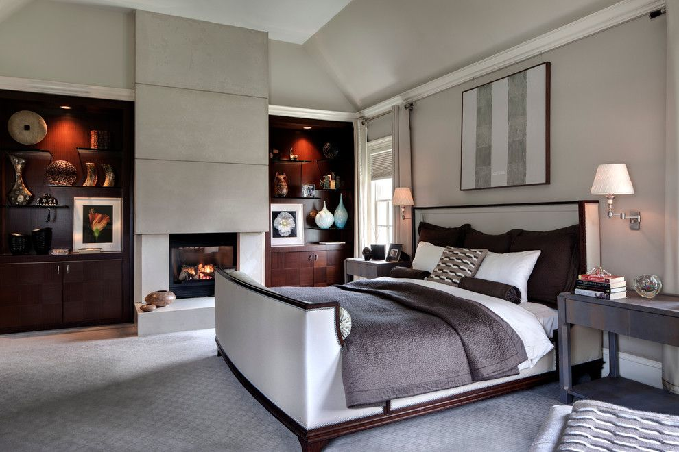 Malm Bed Ikea for a Contemporary Bedroom with a Built in Shelves and Contemporary Gem by Sgh Designs Inc.