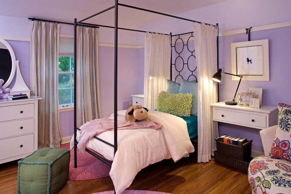 Malm Bed Ikea for a Contemporary Kids with a Dresser and Girl's Room by Inview Interior Design