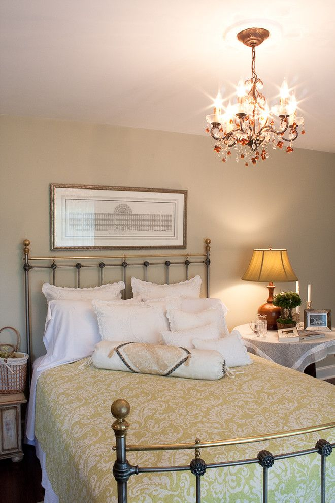 Malm Bed Ikea for a Traditional Bedroom with a Bedside Table and York Show House Bedroom 2010 by Meredith L. Bohn Interior Design