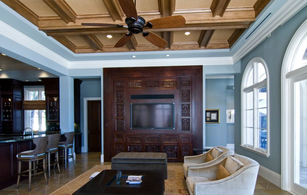 Manalapan Fl for a Traditional Family Room with a Traditional and Nirvana - Manalapan, FL by Cudmore Builders