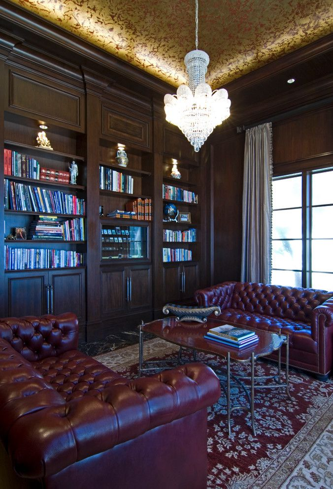 Manalapan Fl for a Traditional Home Office with a Library and Nirvana   Manalapan, Fl by Cudmore Builders