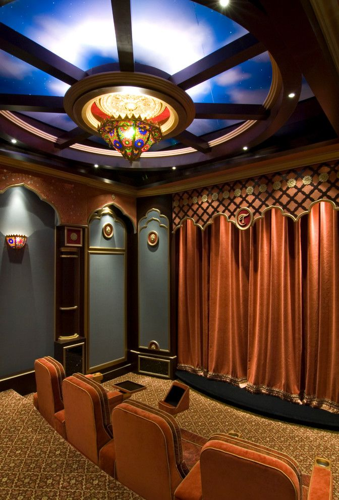 Manalapan Fl for a Traditional Home Theater with a Movie Theatre and Nirvana   Manalapan, Fl by Cudmore Builders