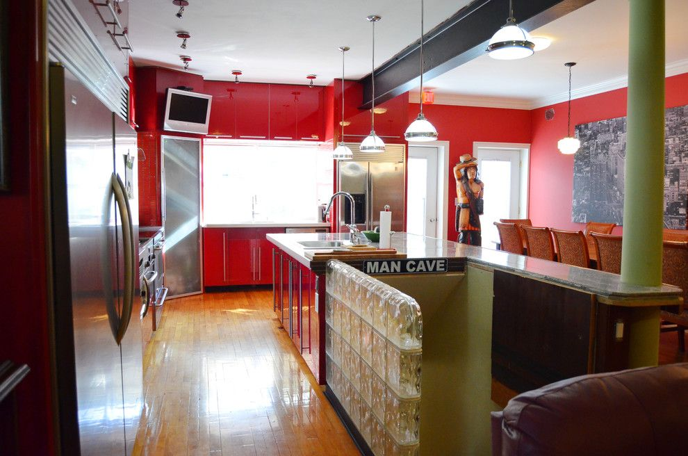 Mancaves for a Eclectic Kitchen with a Eclectic and Pretzel Factory by Amy Renea