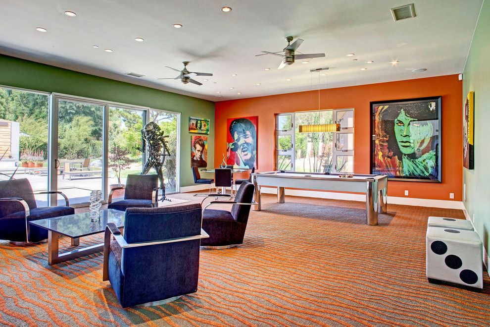 Mannlake for a Eclectic Family Room with a Pop Art and Mcelroy Project by Cantoni Designer Sarah Monaghan