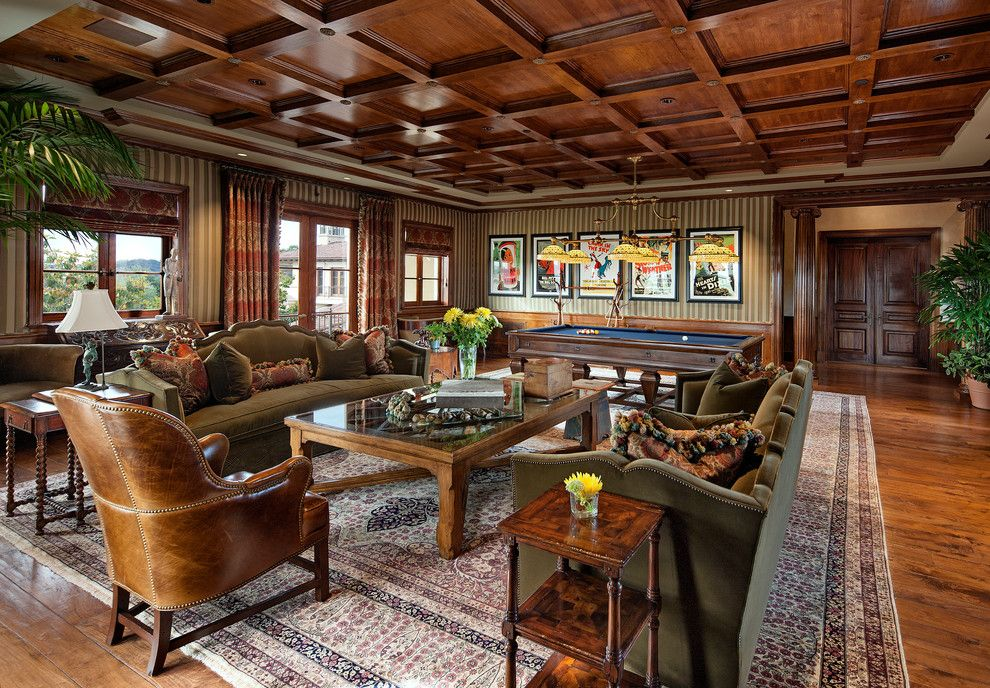 Mannlake for a Traditional Family Room with a High End and Custom Beverly Hills Estate by Buda Design