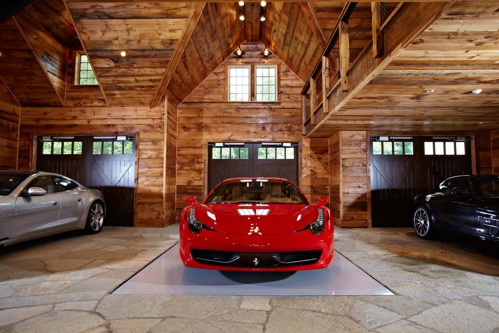 Mannlake for a Traditional Garage with a 45 X 36 and Ultimate Man Cave and Sports Car Showcase by Tr Building & Remodeling Inc.