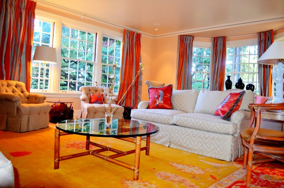Manuel Canovas for a Eclectic Living Room with a Kravet and Dunthorpe Estate by Cielo Home Interior Design
