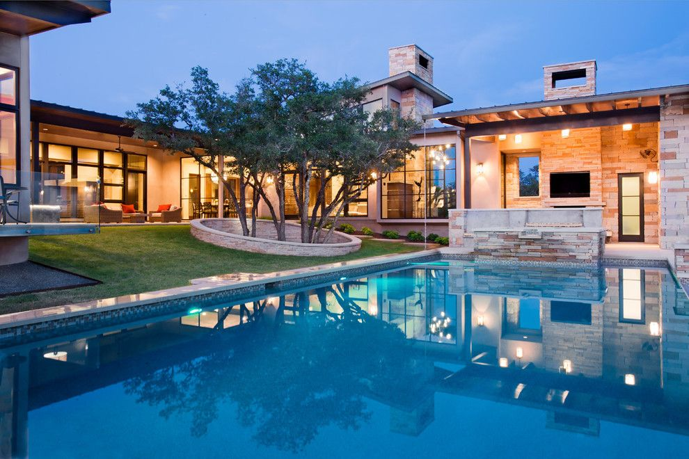 Maple Lawn Md for a Contemporary Pool with a Floor to Ceiling Windows and Rayner Place by Larue Architects