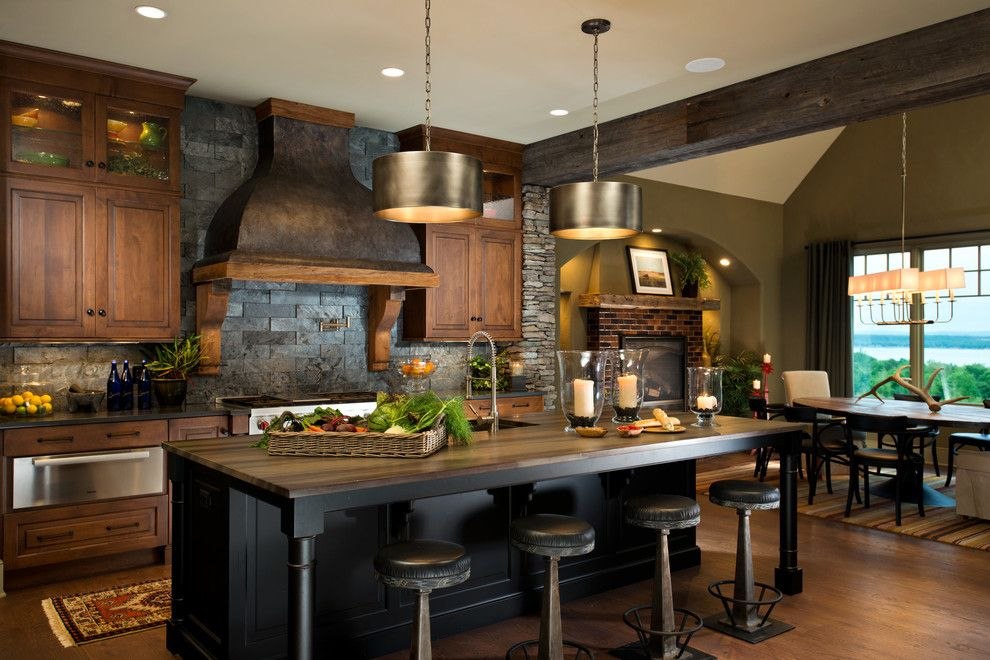 Maple Lawn Md for a Rustic Kitchen with a Heartwood Maple and 2014 Parade of Homes   Pinnacle Home Winner – Best Kitchen by Columbia Cabinets