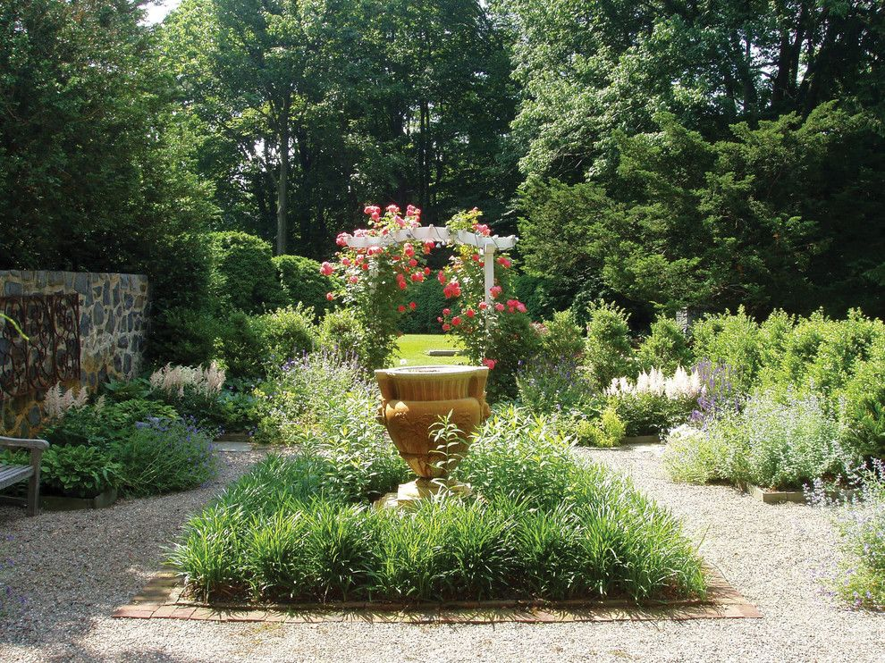 Maple Lawn Md for a Traditional Landscape with a Formal Garden and Garden Urn and Trellis by Wallace Landscape Associates