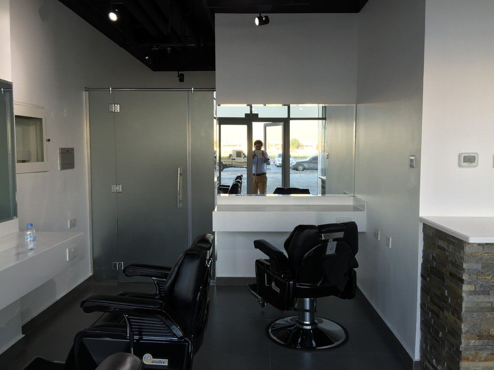 Marana Health Center for a Midcentury Spaces with a Gulf and P070 Level Lounge Saloon Ad 2015 Comb Scissors Gents Salon by Ccg Creative Concepts Group Interior Design & Deco