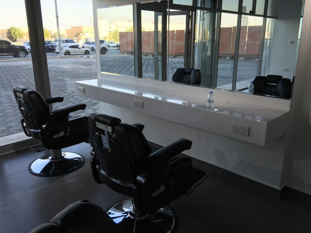 Marana Health Center for a Midcentury Spaces with a Interiordesign and P070 Level Lounge Saloon Ad 2015 Comb Scissors Gents Salon by Ccg Creative Concepts Group Interior Design & Deco