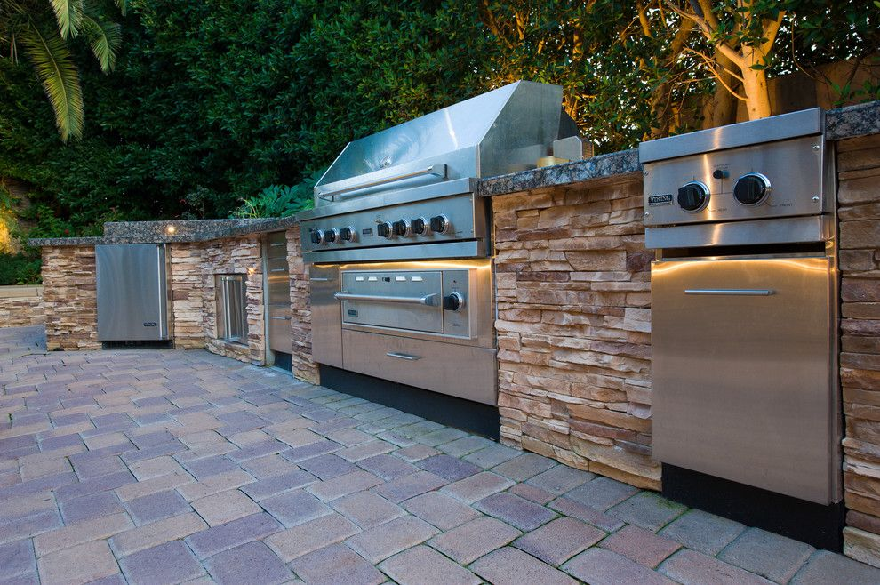 Marbeck Appliance for a Traditional Patio with a Traditional and Barbecue's by Aaa Landscape Specialists, Inc. by Aaa Landscape Specialists, Inc.