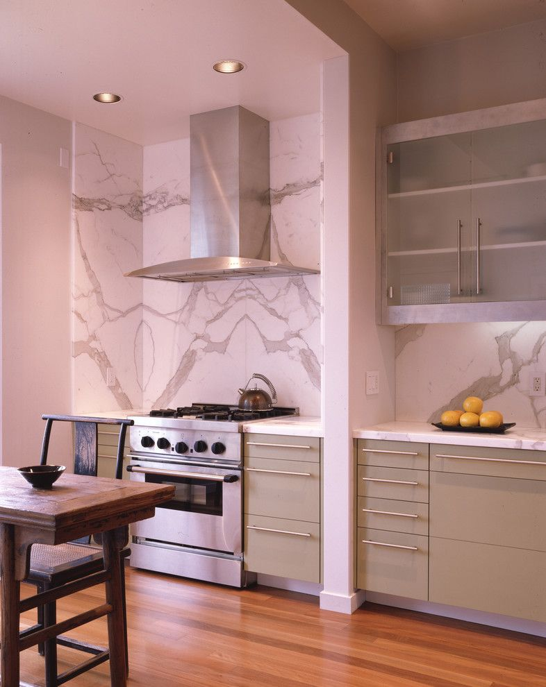 Marble Slab Near Me for a Contemporary Kitchen with a Kitchen Hardware and Silver by John Lum Architecture, Inc. Aia