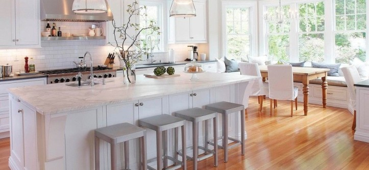 Marble Slab Near Me for a Traditional Kitchen with a Dining Chair Slipcover and Classical Kitchen by Pickell Architecture