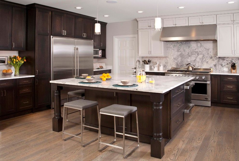 Marble Slab Near Me for a Traditional Kitchen with a Shaker Cabinets and Redmond Re Think Kitchen by Eric Gedney   Architect
