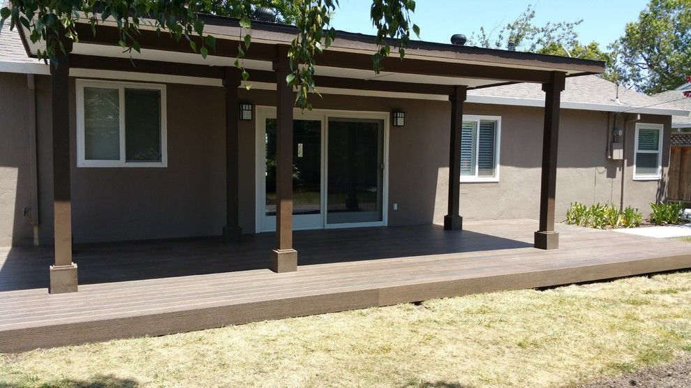 Marborg Santa Barbara for a Contemporary Deck with a Backyard Living Space and Various Decks and Arbors by M&m Builders