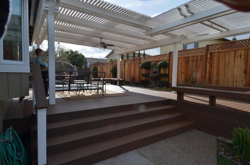 Marborg Santa Barbara for a Contemporary Deck with a Deck and Patio Cover and Various Decks and Arbors by M&m Builders
