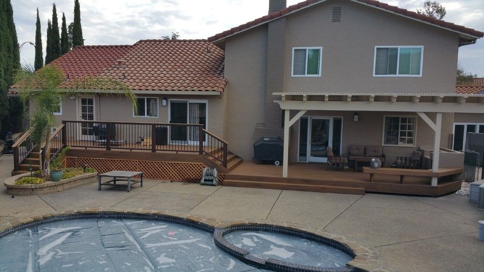 Marborg Santa Barbara for a Contemporary Deck with a Decks and Arbor Los Gatos and Various Decks and Arbors by M&m Builders
