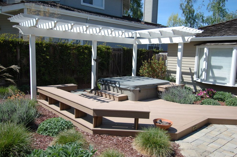 Marborg Santa Barbara for a Contemporary Deck with a Pool Deck and Arbor and Various Decks and Arbors by M&m Builders