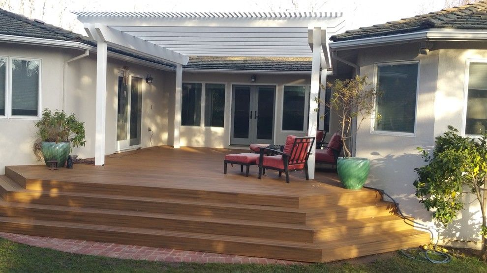 Marborg Santa Barbara for a Contemporary Spaces with a Deck Contractors and Various Decks and Arbors by M&m Builders