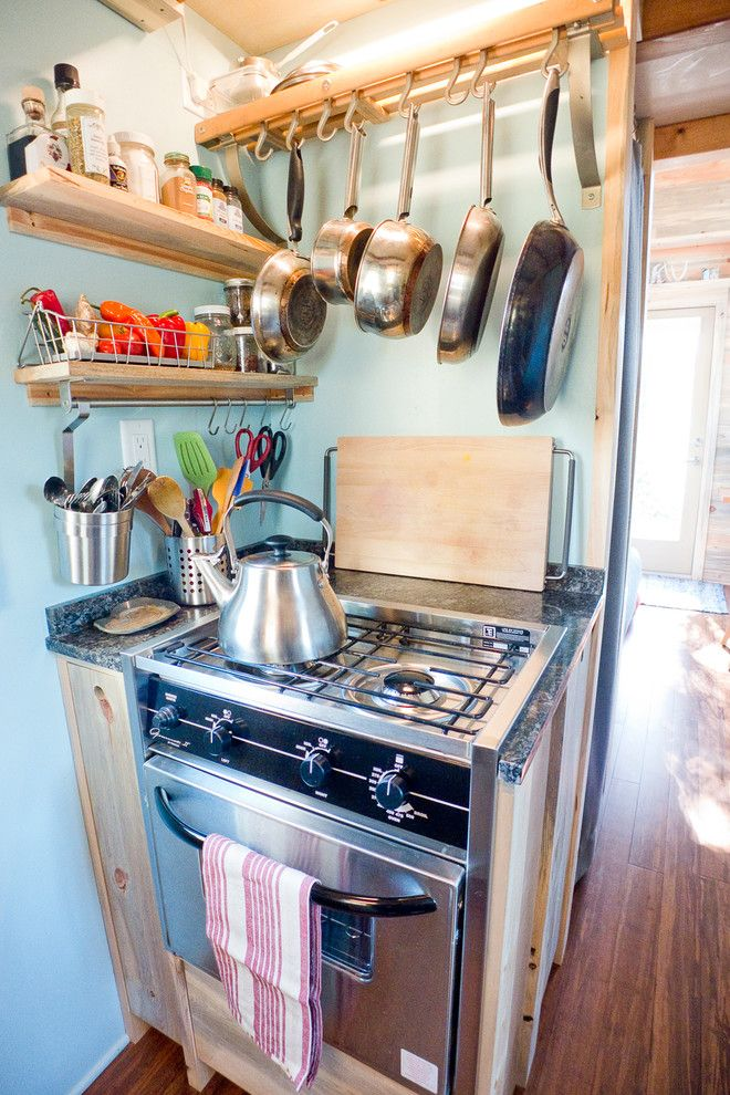 Marin Humane Society for a Contemporary Kitchen with a Rv and Tiny House Kitchen by the Tiny Project