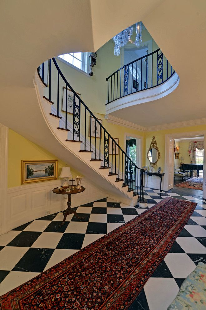 Marin Humane Society for a Traditional Staircase with a Black and White Checkered Floor and Black Banks Plantation by Envision Web