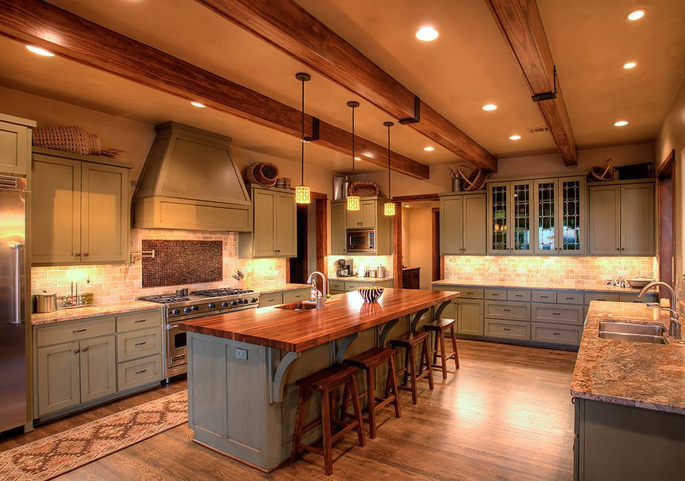 Marquis at Great Hills for a Contemporary Kitchen with a Recessed Lights and Hill Country Craftsman Kitchen by Amanda Still, Hill Design + Gallery