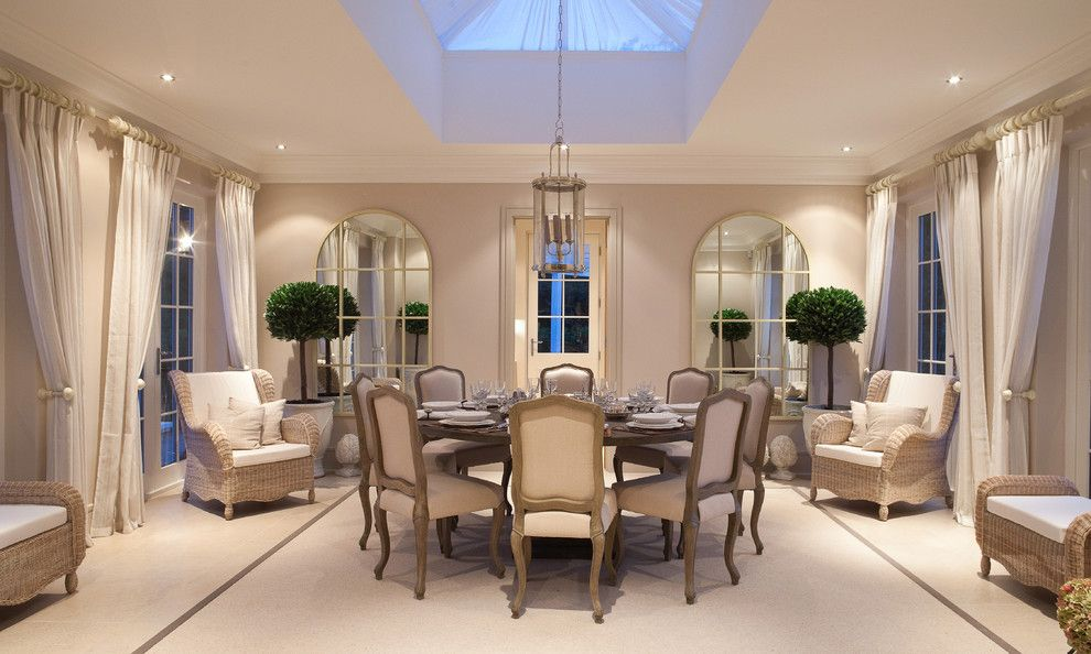 Marquis at Great Hills for a Traditional Dining Room with a Light and Bright and Boars Hill, Oxfordshire by Alexander James Interiors