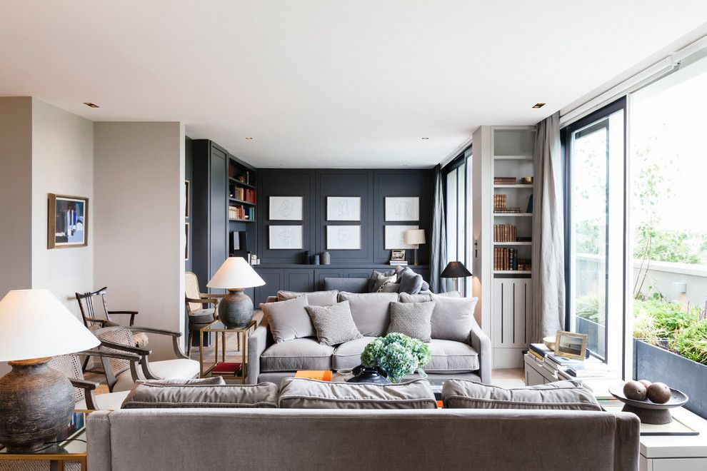Marquis at Great Hills for a Transitional Living Room with a Framed Artwork and Penthouse  Notting Hill by Nathalie Priem Photography