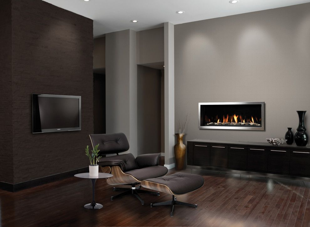 Marquis Furniture for a Contemporary Living Room with a Leather Chair and Sitting Room by Marquis Tile