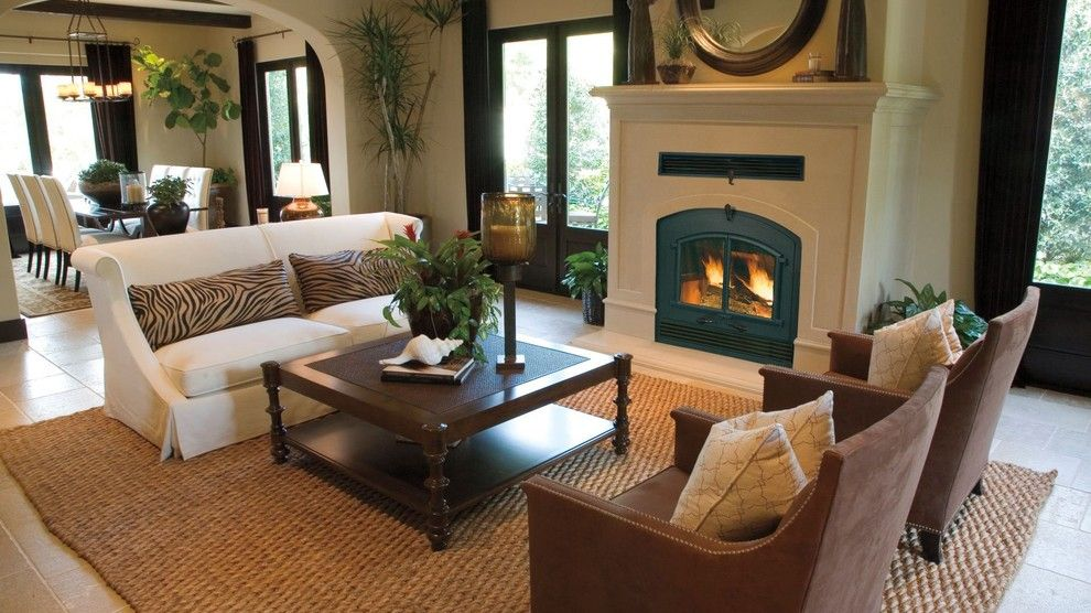 Marquis Furniture for a Craftsman Living Room with a Art Deco and Open Concept Homes with a Gorgeous Wood Burning Fireplace by Marquis Fireplaces