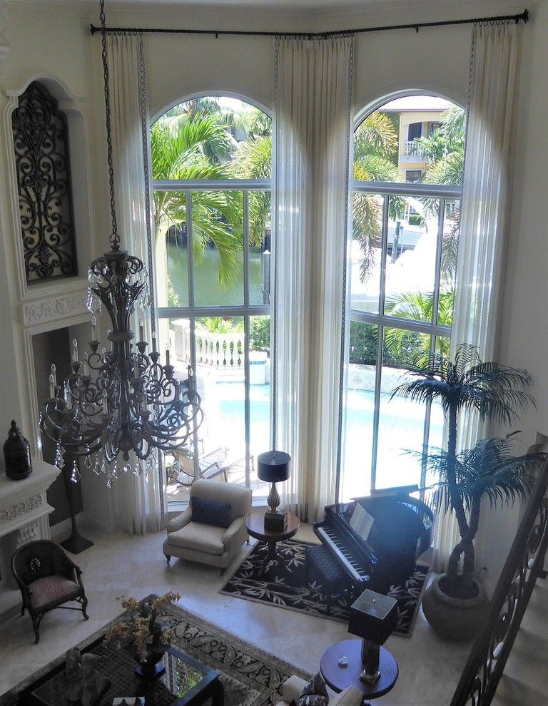Marquis Furniture for a  Living Room with a Sheers and Residence    Palm Beach Gardens by Marquis Design Group