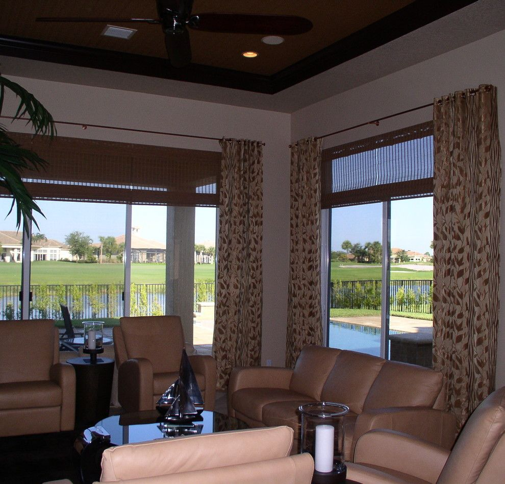 Marquis Furniture for a  Living Room with a Window Covering and Draperies by Marquis Design Group