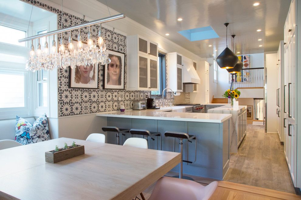 Martyn Lawrence Bullard for a  Kitchen with a  and My Houzz: Remodeling Dreams Come True in a Queen Anne Victorian by Margot Hartford Photography