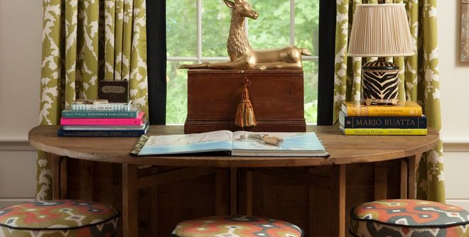 Martyn Lawrence Bullard for a Traditional Home Office with a Sisal Rug and Peckham Hill by Kim Macumber Interiors