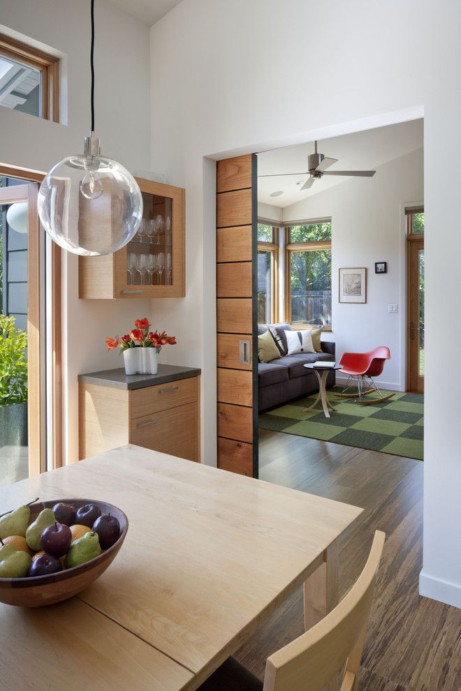 Marwood for a Contemporary Family Room with a Sliding Pocket Door and Cloud Residence by Ana Williamson Architect