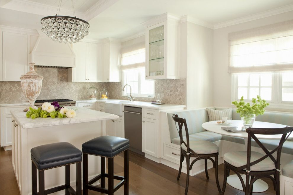 Marwood for a Transitional Kitchen with a Backless Bar Stools and Blairwood by Cari Berg Interior Design