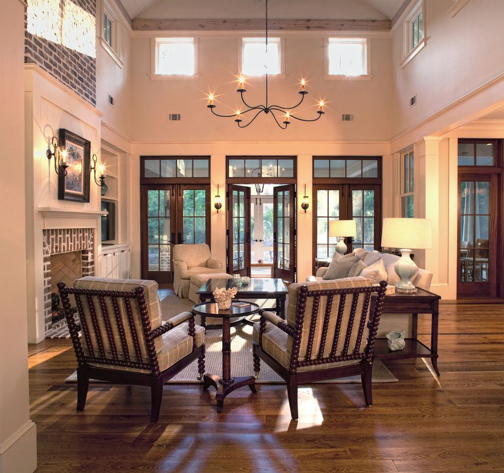 Masons Supply for a Traditional Living Room with a Contemporary and Anson Park, Palmetto Bluff by Yestermorrow Homebuilders