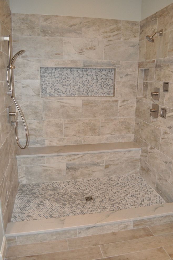 Massage Envy Atlanta for a Shabby Chic Style Bathroom with a Penny Rounds and Simpsons by Dmc Home Improvement