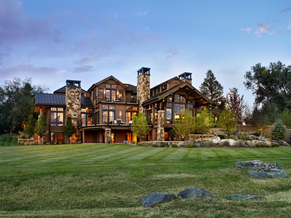 Mastic Home Exteriors for a Rustic Exterior with a Mountain and Cherry Hills Western Eclectic by Ekman Design Studio