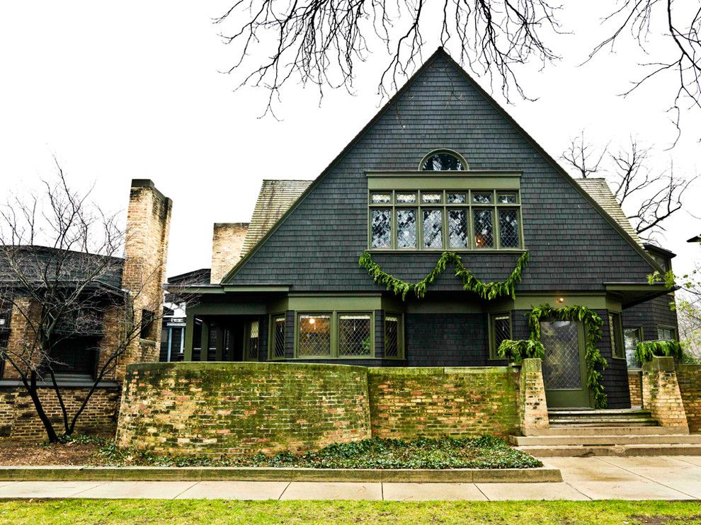 Mastic Home Exteriors for a Traditional Exterior with a Painted Trim and Frank Lloyd Wright Home & Studio by Cynthia Lynn Photography