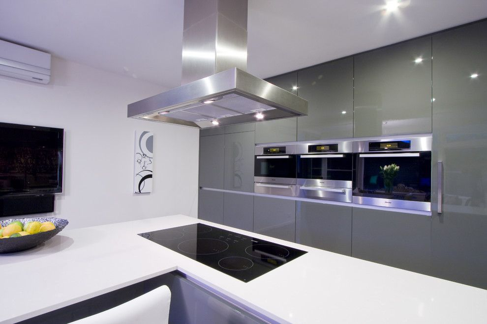 Mayer Electric Supply for a Modern Kitchen with a Modern and Contemporary Kitchen by Darren James Interiors