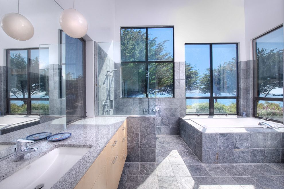Mazama Country Inn for a Contemporary Bathroom with a Cliffs and Sea Arches of Mendocino Coast by Decker Bullock Sotheby's International Realty