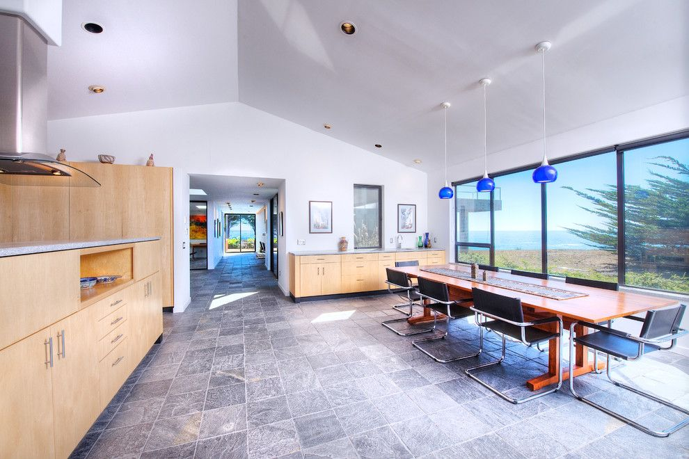 Mazama Country Inn for a Contemporary Dining Room with a Slanted Ceiling and Sea Arches of Mendocino Coast by Decker Bullock Sotheby's International Realty